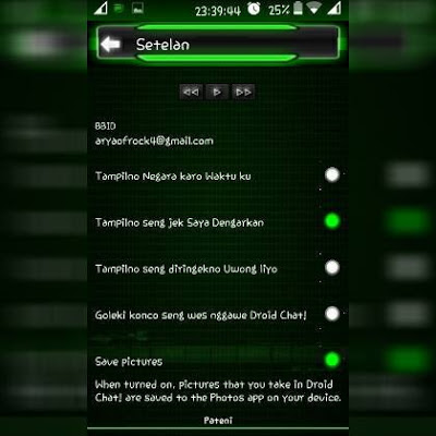 BBM MOD APK Droid CHAT ! Green Theme New Style