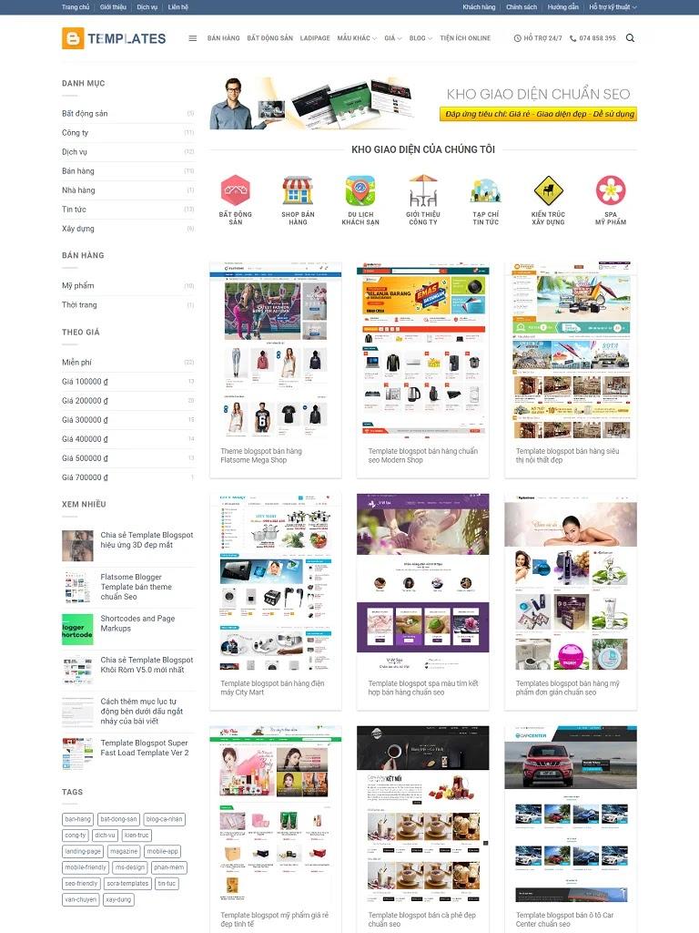 Flatsome Blogger Template bán theme chuẩn Seo 2 - Ảnh 1