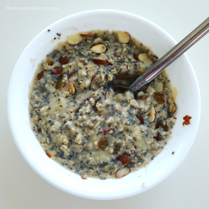 Cook Chia Oatmeal Porridge