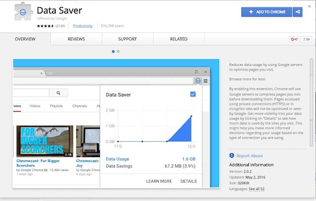 Chrome Data saver