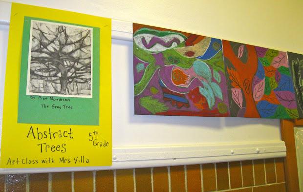 Angie Villa Art & Education Abstract Trees Grade 5