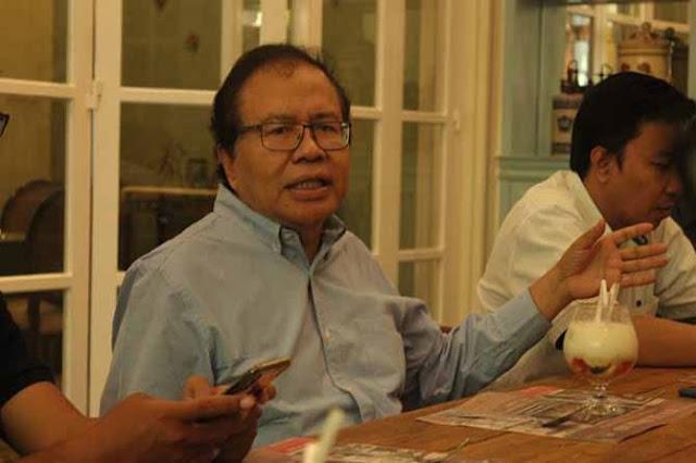 Pesan Rizal Ramli untuk Denny JA: Lebih Baik Umumkan Jokowi Unggul 99,9 Persen
