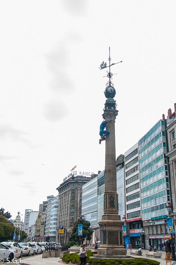 Obelisco de A Coruña. Visitar A Coruña en 2 dias
