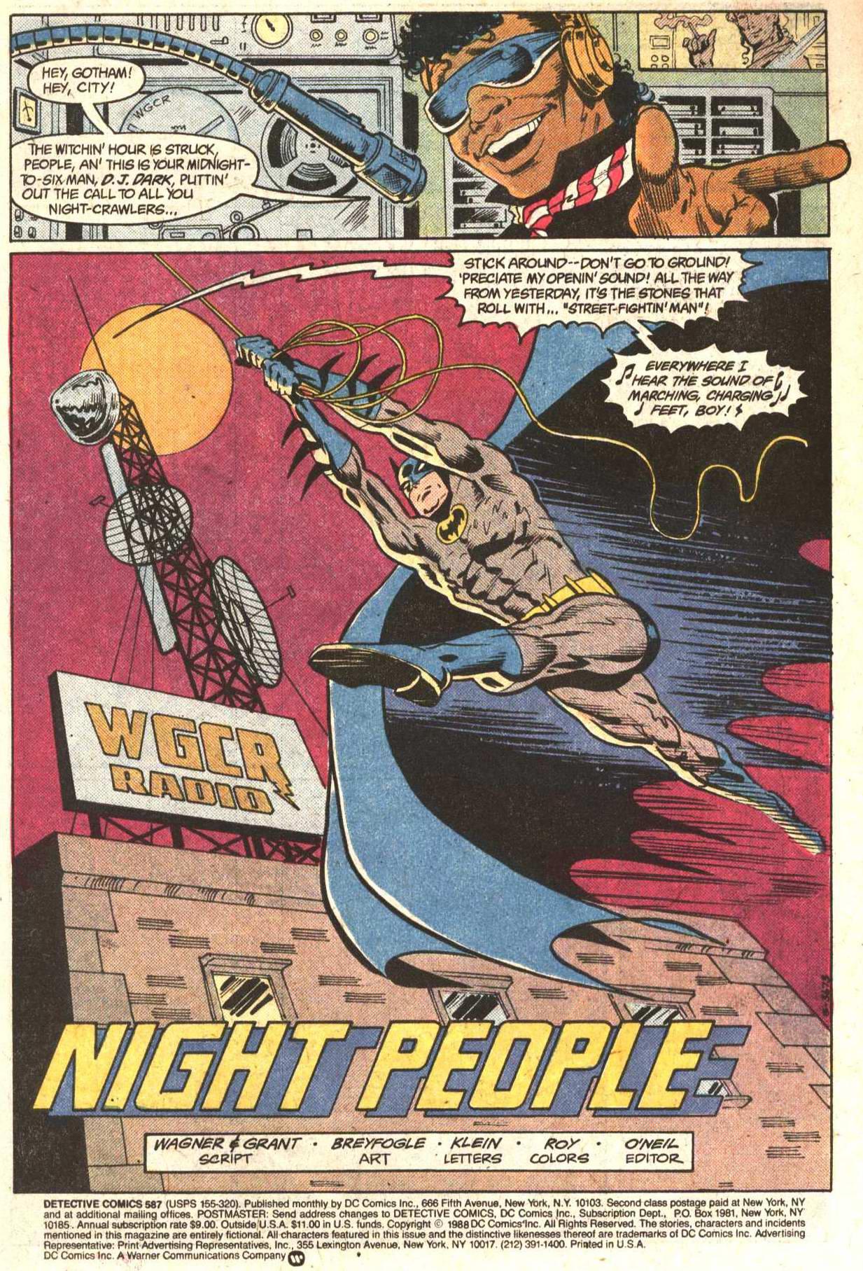 Detective Comics (1937) 587 Page 1