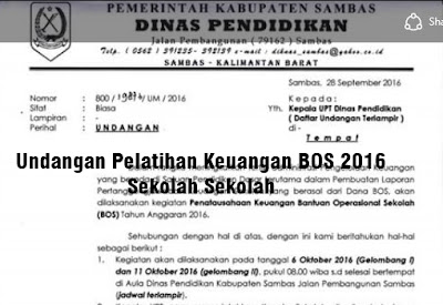 Download Undangan Pelatihan Keuangan BOS 2016