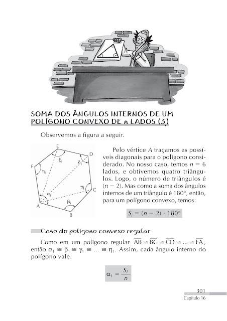 Soma dos angulos internos de um poligono convexo