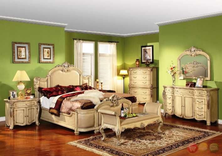 Antique White Master Bedroom Furniture Best Green Matching Wall Painting Two Color Ideas Unique Table Lamp
