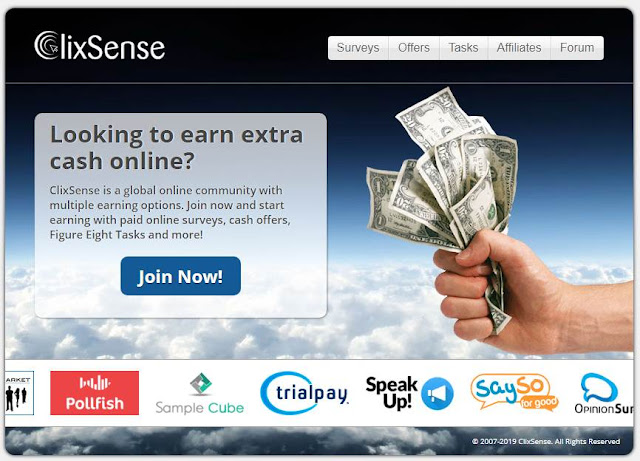 Make money Online with Clixsense   How to earn money online easily