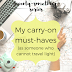 The Twenty-Something Series: My carry-on must-haves (as someone who cannot travel light)