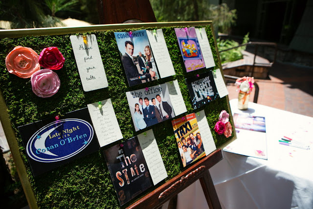 Table Assignments - Wedding Pre-Reception in Brisa Courtyard