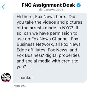 "Screen shot of Twitter. Fox ""news"" request for photos of Charlottesville solidarity march from @KeeganNYC Writer, organizer, JD student. Student Rep., Civil Rights Section, Federal Bar Association"
