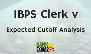 IBPS Clerk V : Expected Cutoff