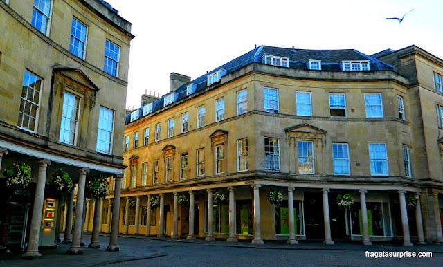 Casarões georgianos em Bath
