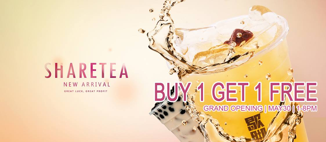 TAIPEI'S NO.1 SHARETEA OPENS NEAR SOUTH COAST PLAZA WITH BOGO FREE DRINKS PROMO THIS MEMORIAL DAY