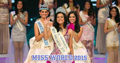 Miss Indonesia Maria Harfanti Raih Juara 3 di Ajang Miss World 2015