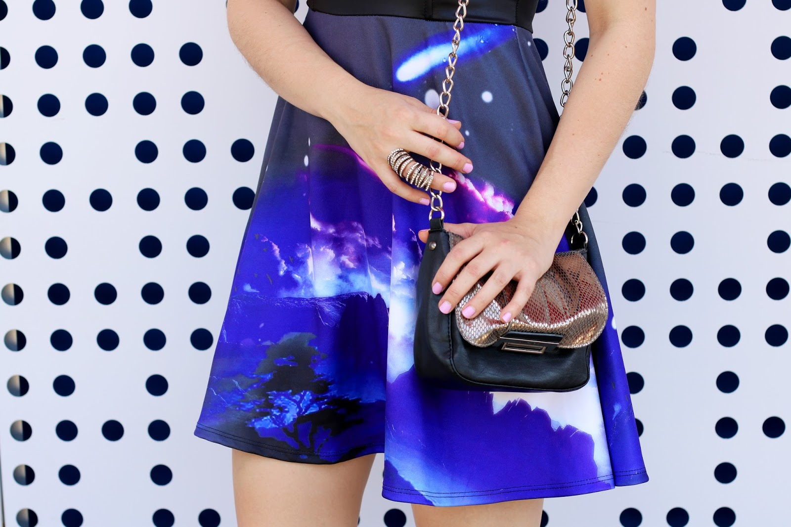 Loving this cool galaxy dress