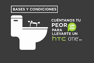 Gana un Smartphone HTC One M9 - Tu peor UH OH!