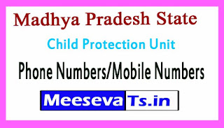District Child Protection Unit (DCPU)Phone Numbers/Mobile Numbers in Madhya Pradesh State