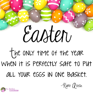 Easter: the only time of the year when it is perfectly safe to put all your eggs in one basket!