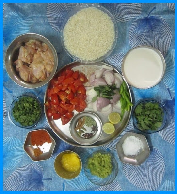 Chicken Biryani Ingredients