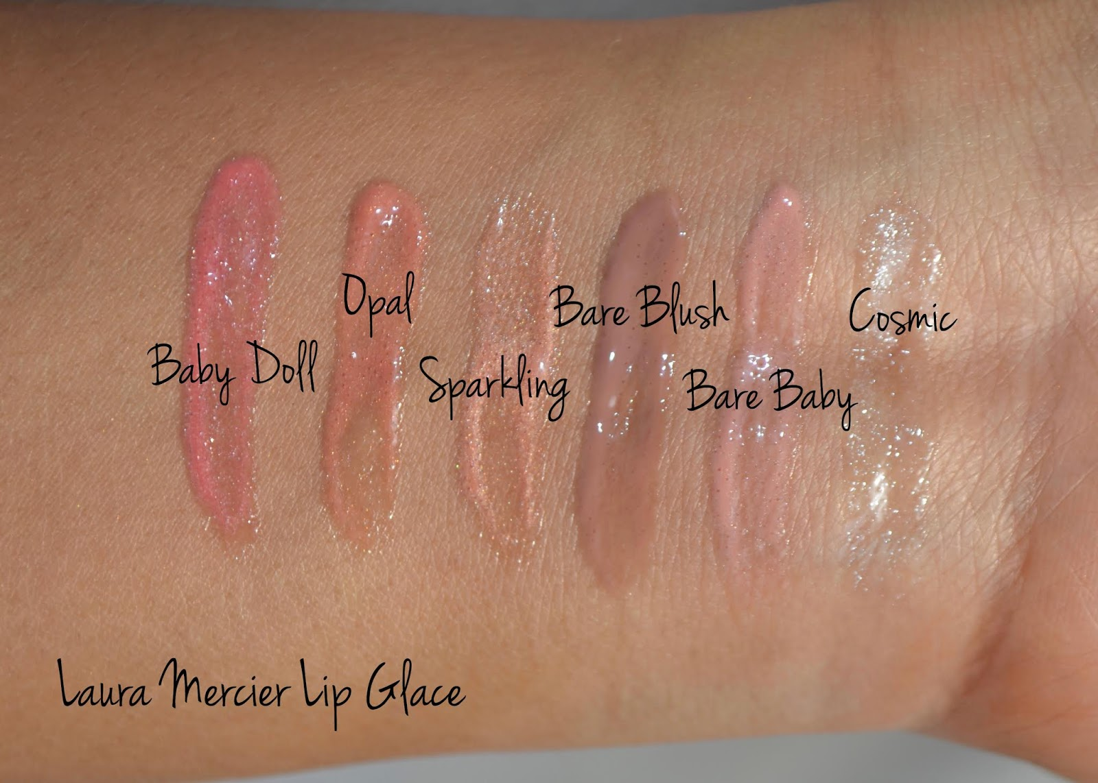 Laura Mercier Lip Glace Swatches