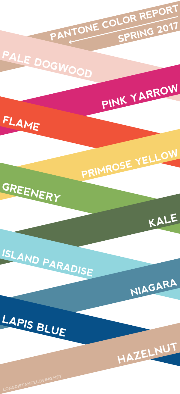 pantone spring 2017 color report // graphic by @luvfromafar