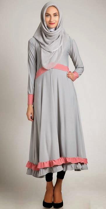 Desain Baju Dress Muslim Model Terbaru 2015