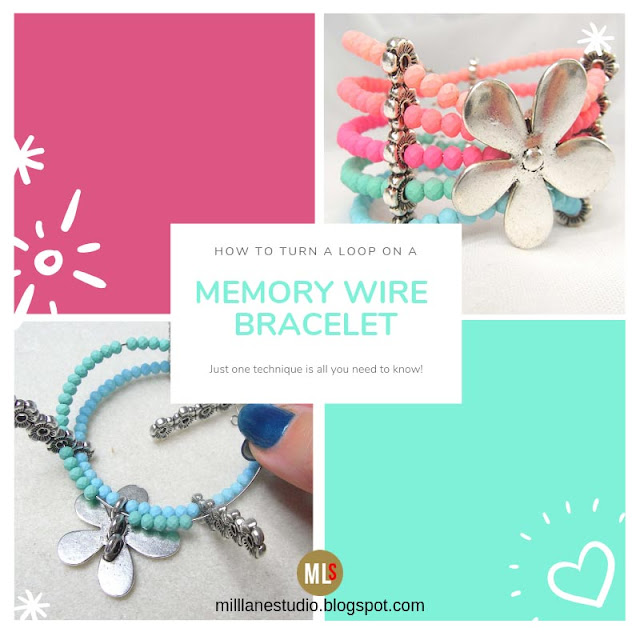 Pastel memory wire cuff project header