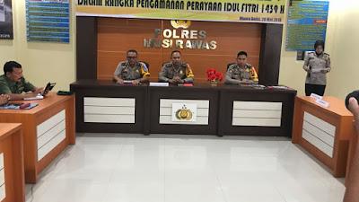 Kapolres Musi Rawas Pimpin Rapat Koordinasi Lintas Sektoral Dalam Rangka Pengamanan Perayaan Idul Fitri 1439 H