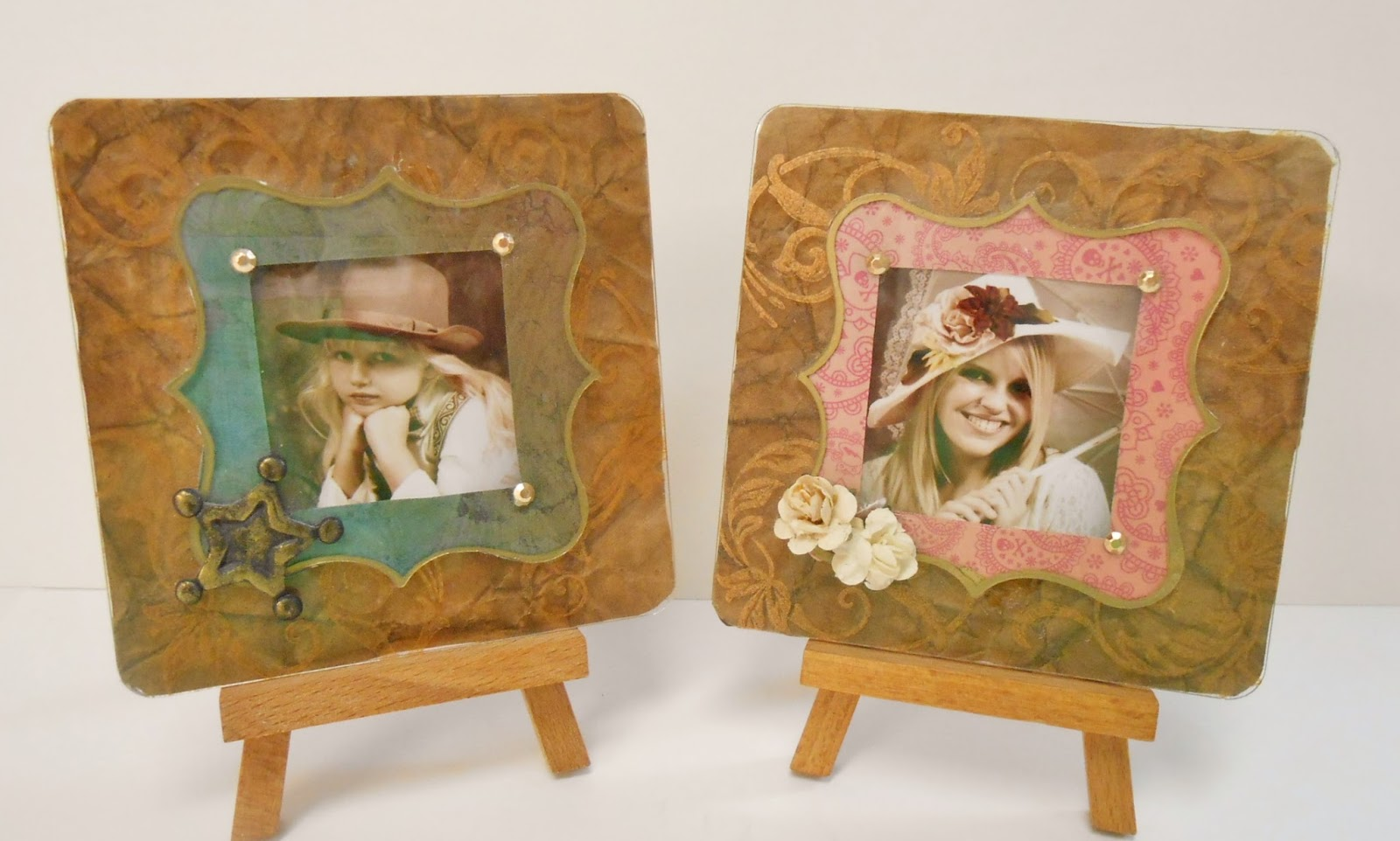 Clear Scraps Blog: Leather-look mini frames