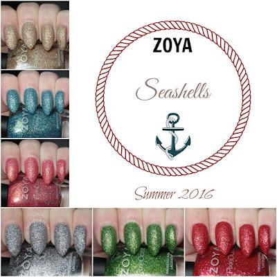zoya seashells pixie dust review swatches
