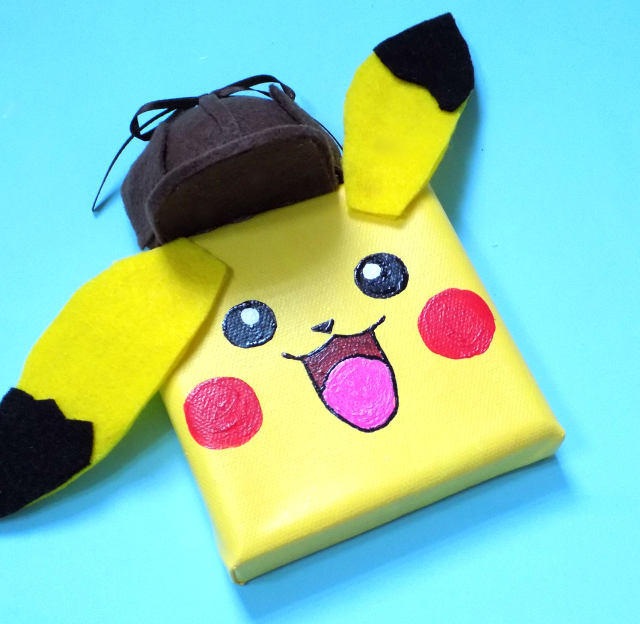 Detective Pikachu Mini Canvas Craft For Kids