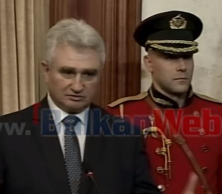 Milan Štěch speacking in Tirana