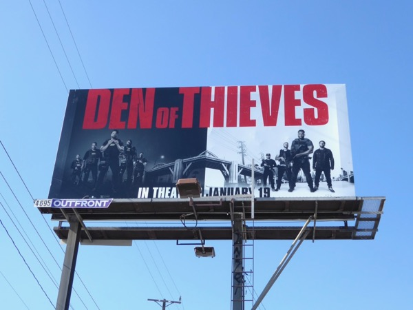 Den of Thieves movie billboard