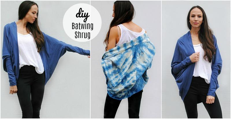 DIY Batwing Cardigan/Shrug