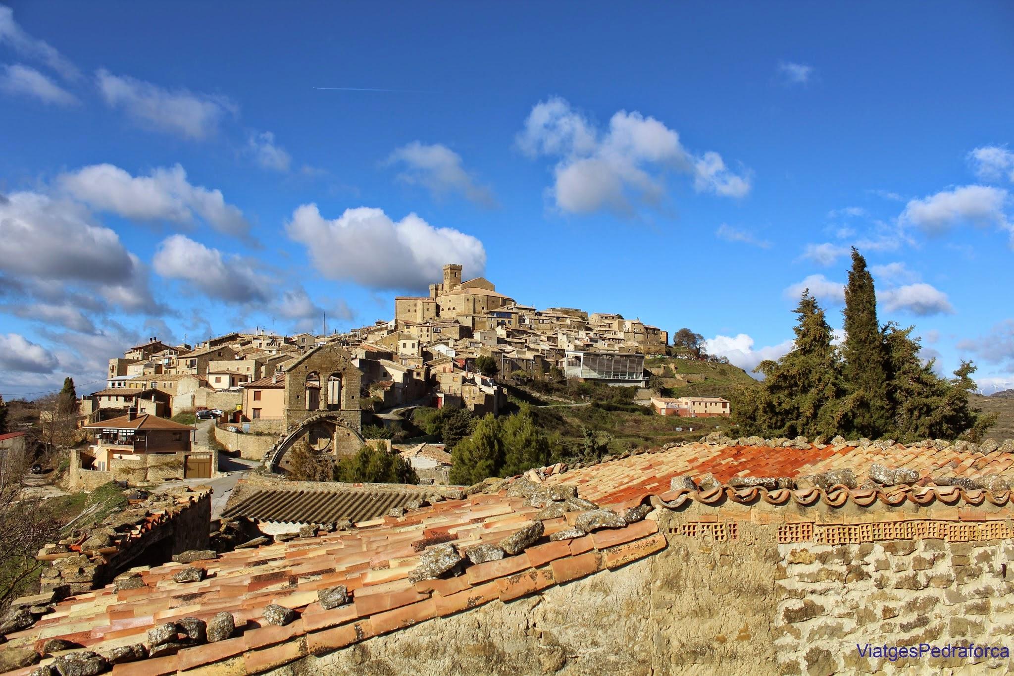 Vista panoramica de Ujué, Navarra