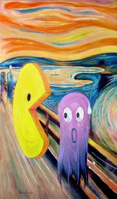 El grito de Munch - Versión PacMan