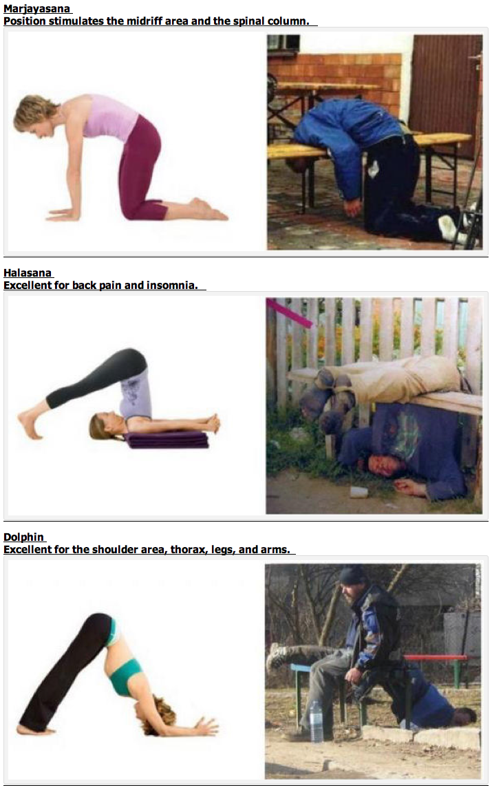 Diferencias y similitudes entre Yoga y Vodka
