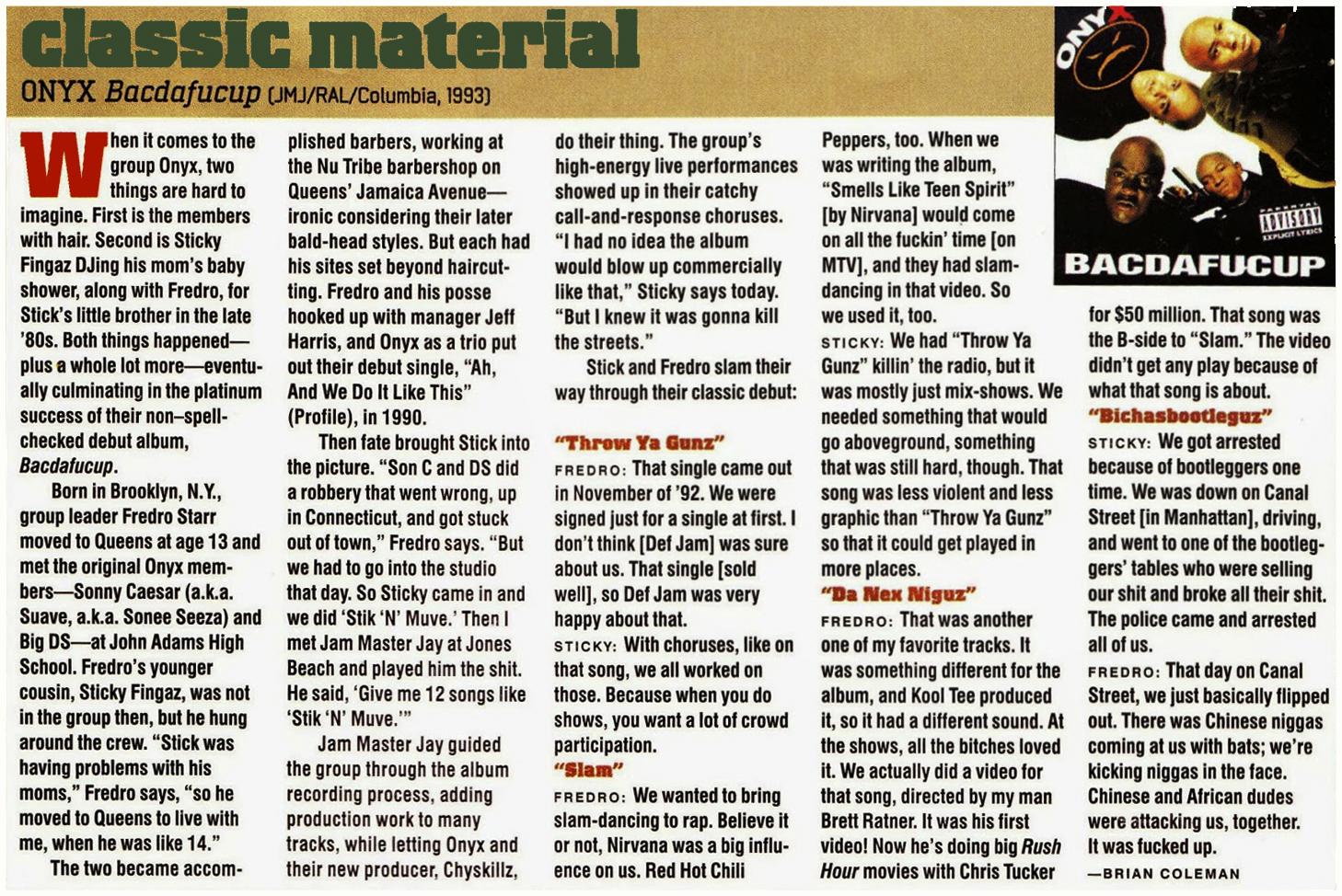 Onyx Bacdafucup Classic Material Review Hip Hop Nostalgia