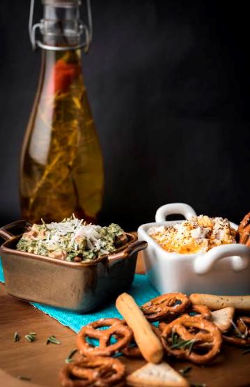 Za'atar & Chilli Oil Ricotta Spread + Artichoke Dip@Foodhall