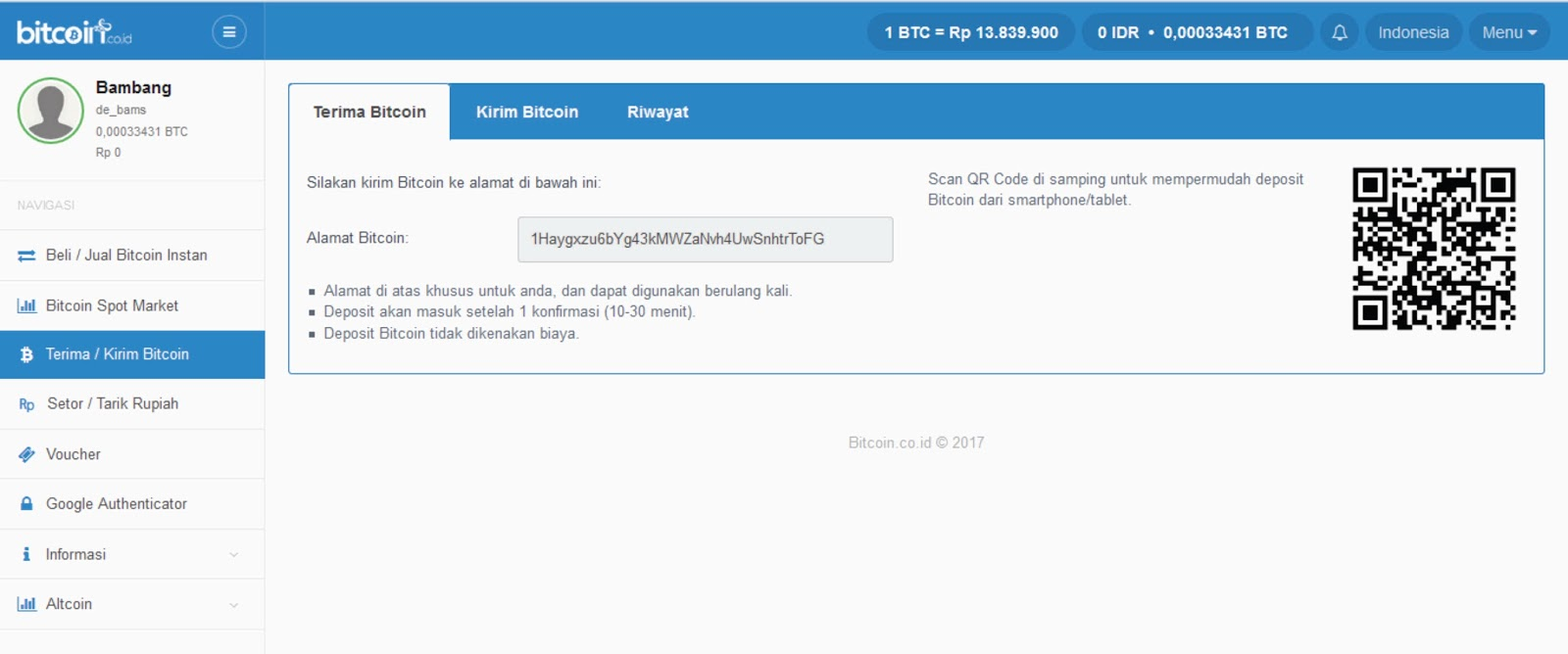 Ruang Ilmu: Cara Mudah Bikin Wallet Virtual dengan Bitcoin.co.id Indonesia