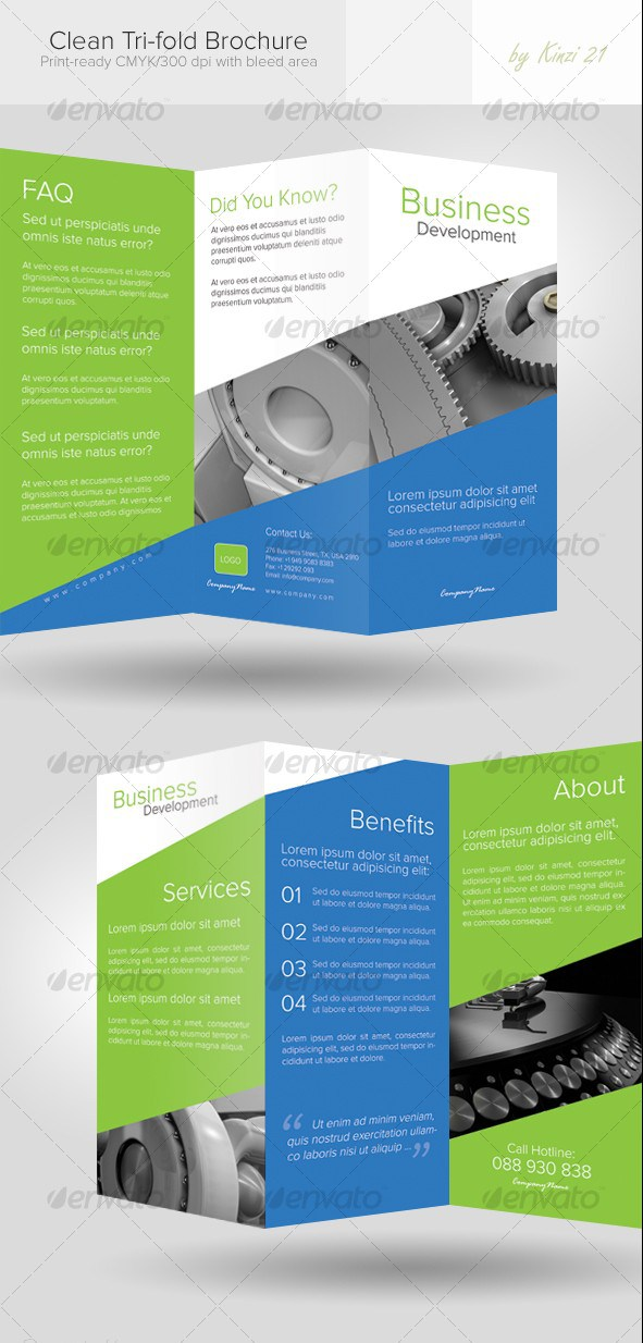 100 free premium brochure templates photoshop psd for Bi fold brochure template indesign
