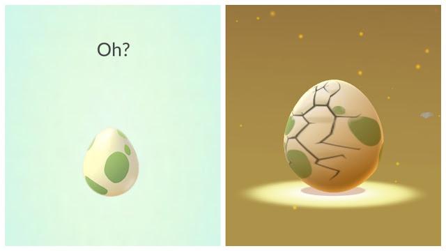 終於......孵.....孵出來啦!  #註二(Pokemon GO的孵蛋系統)