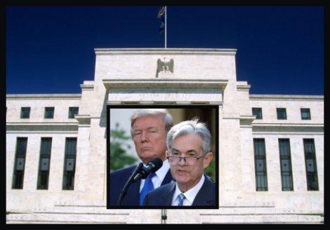 Presidetn Trump and Fed Chairman Jerome Powell
