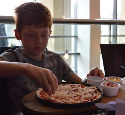Make your own pizza from the children menu at Newcaslte Gusto