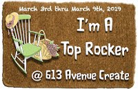 613 Avenue Create, Top Rocker April 2019 (Easter candle box)