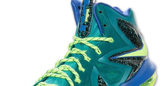 4dfc498d402 ajordanxi Your  1 Source For Sneaker Release Dates  Nike LeBron X PS Elite  Sport Turquoise Volt-Violet Force Release Reminder