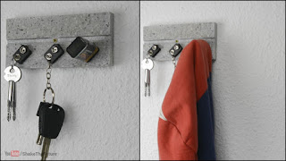 gantungan kunci dari baterai bekas
