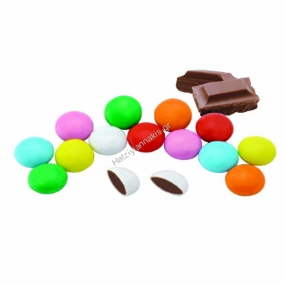 Chocolate coated candy multi color