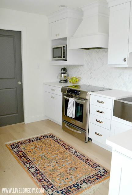 kitchen makeover quartz countertops white